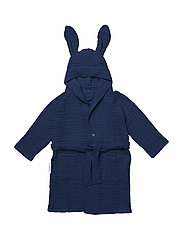 Dana muslin bath robe rabbit - NAVY
