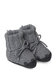 Knit baby boots - GREY MELANGE