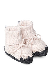 Knit baby boots - SWEET ROSE