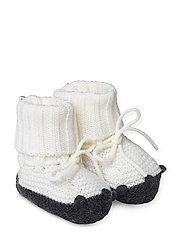 Knit baby boots - CREME DE LA CREME