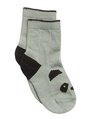 Silas cotton socks - PANDA DUSTY MINT