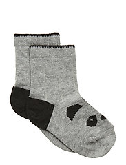 Silas cotton socks - PANDA GREY MELANGE