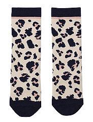 Sofia knee socks - LEO BEIGE BEAUTY