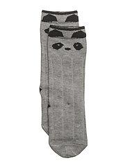 Sofia knee socks - PANDA GREY MELANGE