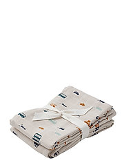 Hannah muslin cloth print 2 pack - CARS