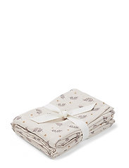 Hannah muslin cloth print 2 pack - FERN/ROSE