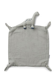 Agnete cuddle cloth - DINO DOVE BLUE