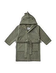 Lily bathrobe - DINO FAUNE GREEN