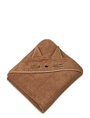 Augusta hooded towel - CAT TERRACOTTA