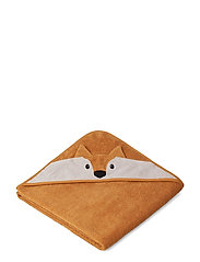 Augusta hooded towel - FOX MUSTARD