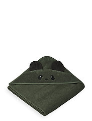 Augusta hooded towel - PANDA HUNTER GREEN