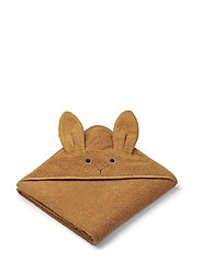 Augusta hooded towel - RABBIT MUSTARD