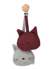 Rosa pram toy rabbit - CAT GREY MELANGE