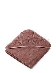 Albert Hooded Towel - CAT DARK ROSE