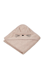 Albert hooded towel - CAT ROSE