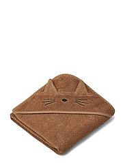 Albert Hooded Towel - CAT TERRACOTTA