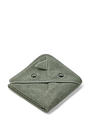 Albert hooded towel - DINO FAUNE GREEN
