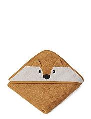 Albert Hooded Towel - FOX MUSTARD