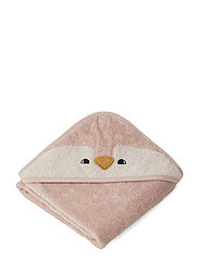 Albert Hooded Towel - PENGUIN ROSE