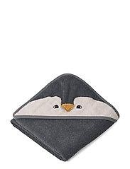 Albert Hooded Towel - PENGUIN STONE GREY