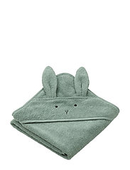 Albert hooded towel - RABBIT PEPPERMINT
