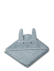 Albert hooded towel - RABBIT SEA BLUE