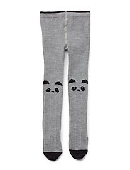 Silje wool stockings - PANDA GREY MELANGE