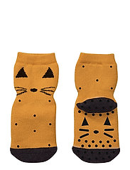 Nellie anti slip socks - CAT MUSTARD