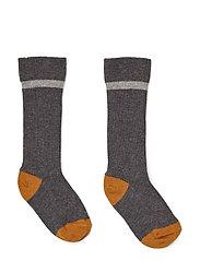 Mia knee socks 2-pack - GREY MELANGE