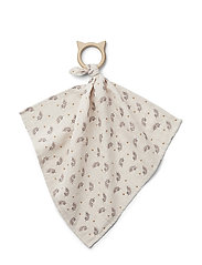 Dines teether cuddle cloth - FERN/ROSE
