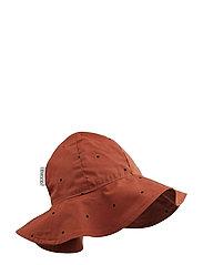 Amelia sun hat - CLASSIC DOT RUSTY