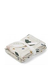 Hannah muslin cloth print 2 pack - DINO MIX