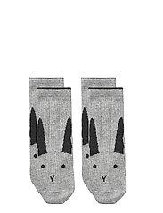 Silas cotton socks - 2 pack - RABBIT GREY MELANGE