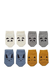 Fanny footies - 4 pack - BLUE MIX