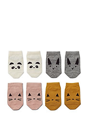 Fanny footies - 4 pack - ROSE MIX