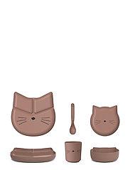 Jules junior bamboo set - CAT DARK ROSE