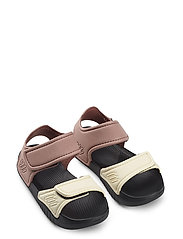 Blumer sandals - DARK ROSE/BLACK MIX