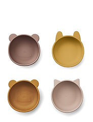 Iggy silicone bowls - 4 pack - ROSE MIX