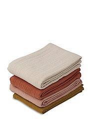 Leon muslin cloth - 4 pack - ROSE MULTI MIX