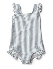 Tanna swimsuit seersucker - Y/D STRIPE