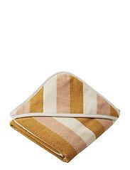 Alba hooded baby towel - Y/D STRIPE