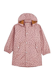 Spencer long raincoat - CONFETTI ROSE