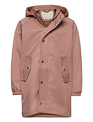 Spencer long raincoat - DARK ROSE