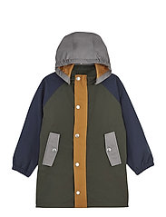 Spencer long raincoat - HUNTER GREEN MULTI MIX