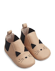 Edith leather slippers - CAT ROSE