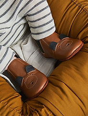 Liewood - Edith leather slippers - hausschuhe - mr bear mustard - 0