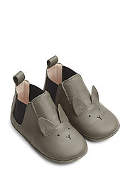 Edith leather slippers - RABBIT GREY