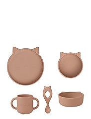 Vivi silicone set - CAT DARK ROSE