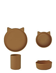 Cyrus silicone junior set - CAT MUSTARD