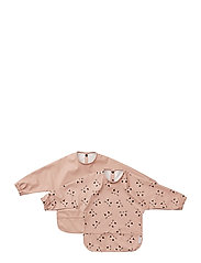 Merle cape bib print - 2 pack - CAT ROSE